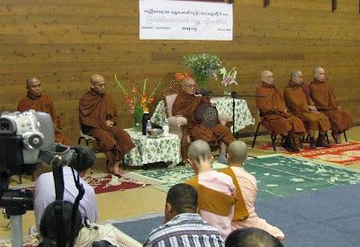 >Shwe Daung Gone Sayadaw hold dhamma talk at the bay