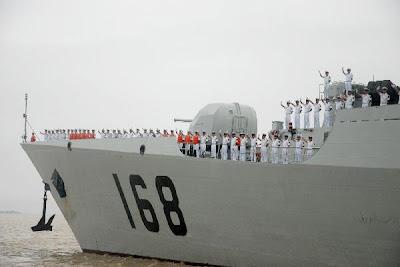 >Chinese naval warships visit Rangoon