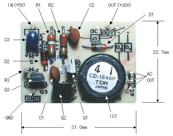 Komponen Rangkaian +30V DC-DC Converter