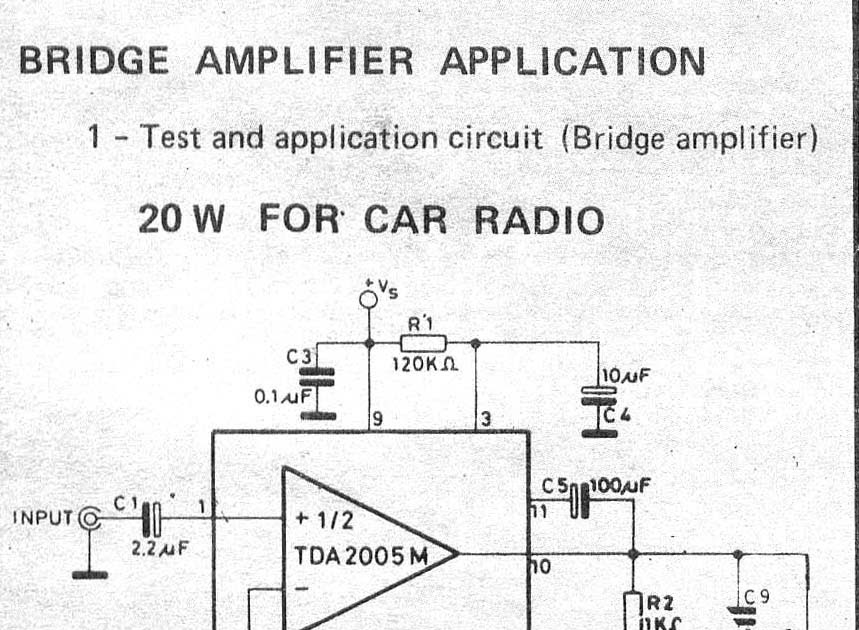 electronic test  car audio bcl 20w amplifier circuits