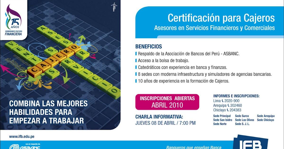 Instintoifb certificaci n para cajeros en el ifb for Cajeros en el aeropuerto