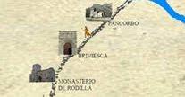 Información Via Bayona a su paso por La Bureba