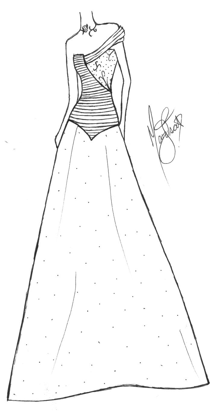 Dibujos Para Colorear De Vestidos De Barbie ~ Ideas Creativas Sobre ...