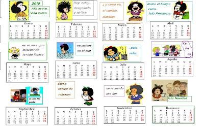 abedul etxea,8: Calendario de Mafalda