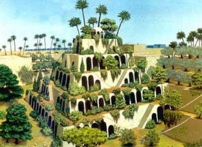 Women and the garden hanging gardens of babylon - Jardins suspendus ...