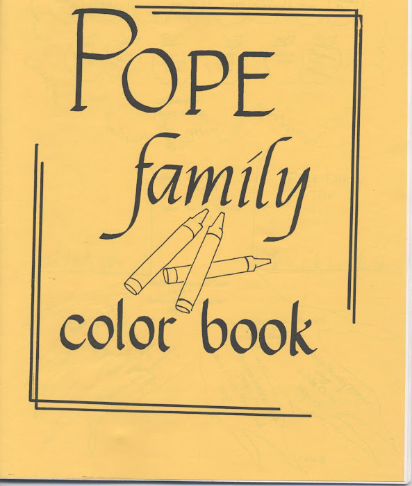 Pope Famly color book