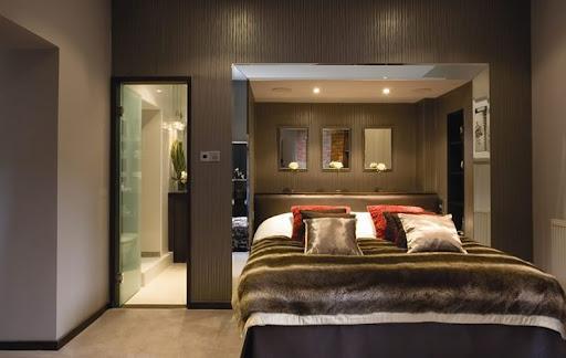 purple minimalist furniture in small girls bedroom design idea by