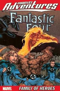 Review Marvel Adventures Fantastic Four Volume One Family of Heroes Jeff Parker Akira Yoshida Caylo Pagulayan Juan Santacruz Marvel Mr. Fantastic Invisible Woman Human Torch Thing Cover trade paperback tpb comic book