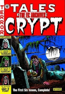 Review Tales from the Crypt Archives Volume One Crypt of Terror Bill Gaines Al Feldstein Johnny Craig Graham Ingels Harvey Kurtzman Wally Wood Jack Kamen George Roussos Crypt-Keeper EC Comics Gemstone Publishing Cover hardcover hc comic book
