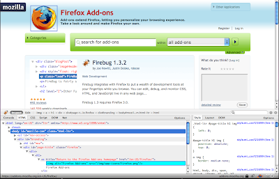 firebug extension screenshot