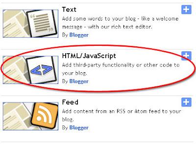 HTML/ Javascript Gadget