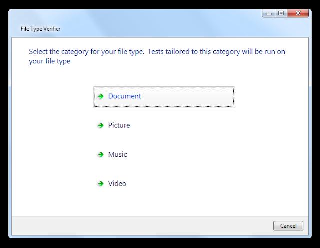 Снимок экрана, показывающий выбор категории