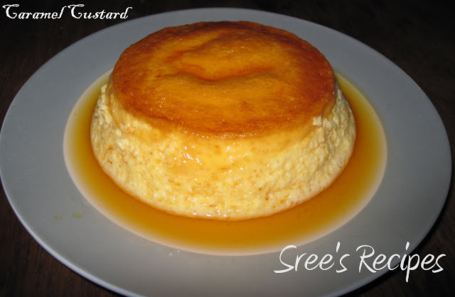 Caramel custard is an easy dessert with simple ingredients.