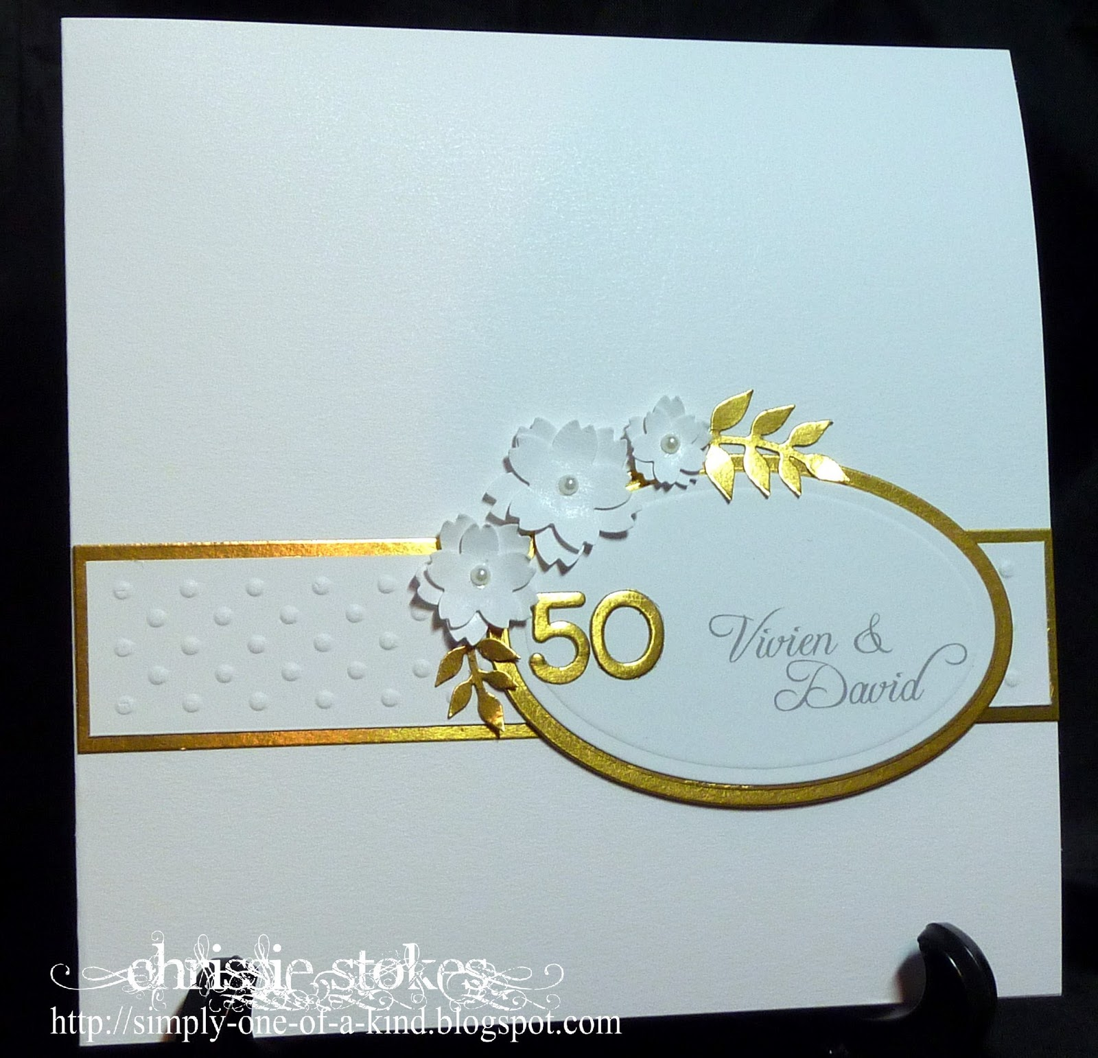 Simply One of a Kind: Another Golden Wedding card