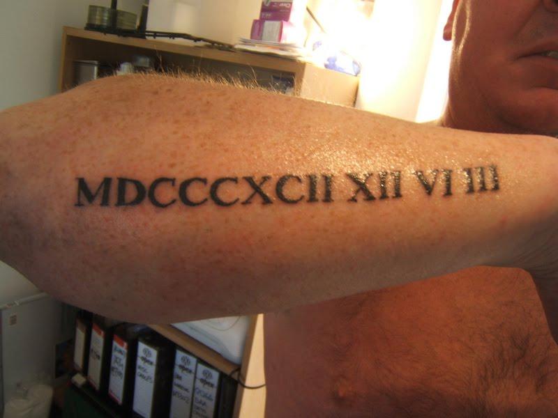 Roman Numeral Tattoos