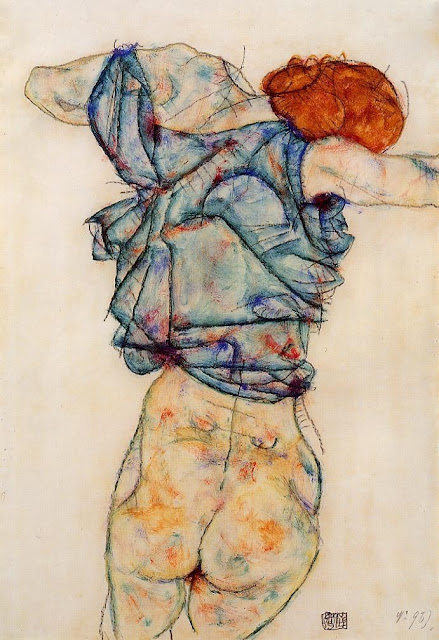 Egon Schiele - Page 3 Egon_Schiele_-_Woman_Undressing