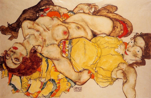 Egon Schiele - Page 3 Egon_Schiele_-_Two_Girls_Lying_Entwined