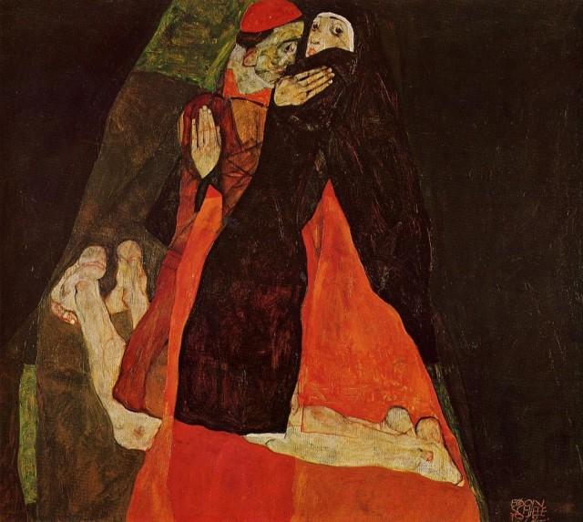 Egon Schiele - Page 2 Egon_Schiele_-_Cardinal_and_Nun