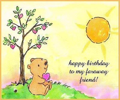 happy birthday animation card. cartoon irthday happy