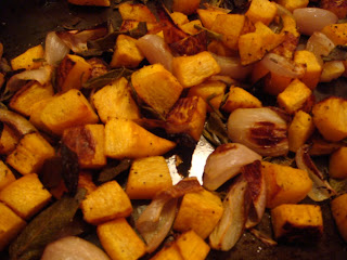 Roasted pumpkin, shallots, and sage