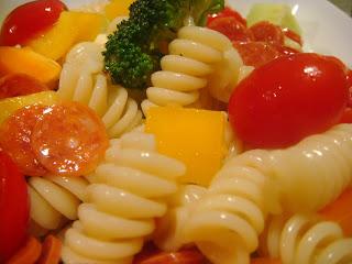 Mayo-free pasta salad