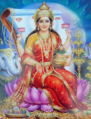 Goddess Lakshmi Cards, Hindu Goddess Lakshmi, Goddess of Wealth and Beauty