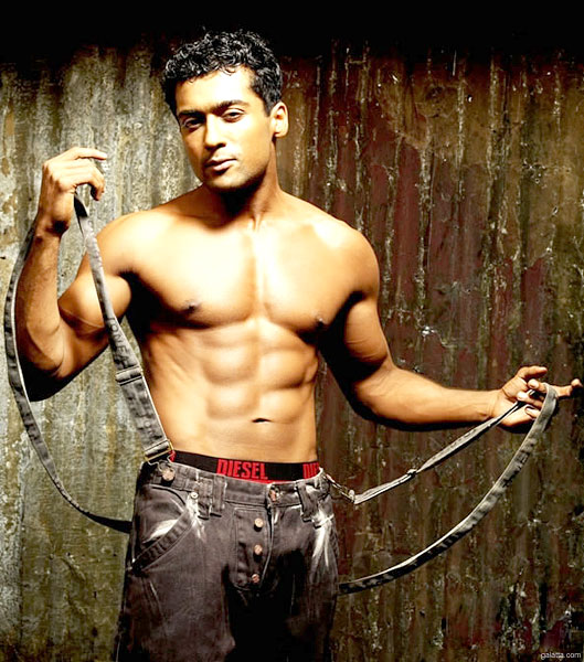 Tamil Actor Surya Six Pack Body Hot Muscles