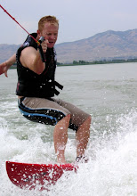 Jeff wake surfing in Utah
