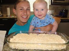 Kaleb helped his mommy...
