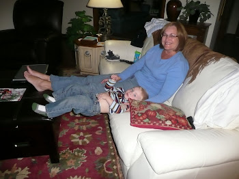 Kaleb wanted to sit like Grammy