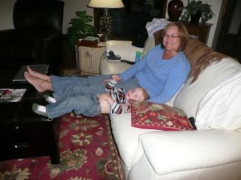 Kaleb wanted to sit like Grammy