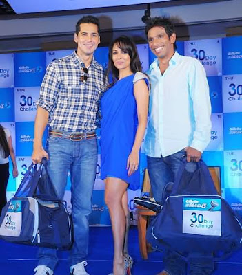 Dino Morea at Gillete 30 day challenge
