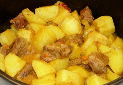 Estofado de ternera con patatas