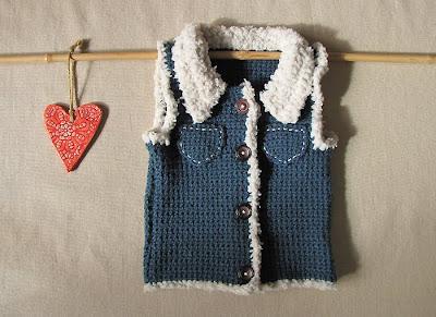 Crochet Baby Hunting Vest Pattern : Camellia Rose: Crochet baby vest