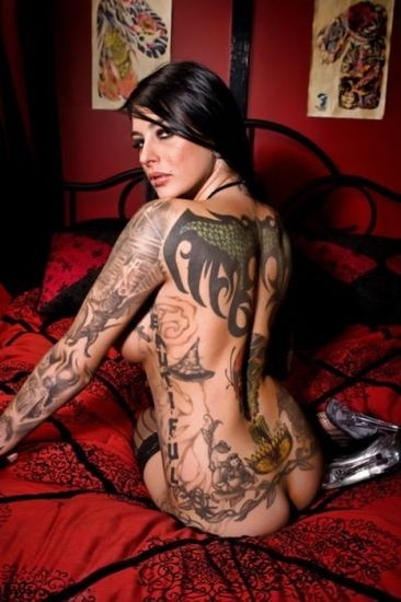 Tattoo girls have been opting for large tattoos with designs