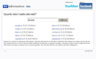 Quanto vale sito web
