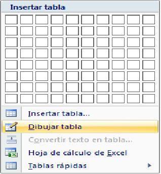 insertar tabla: