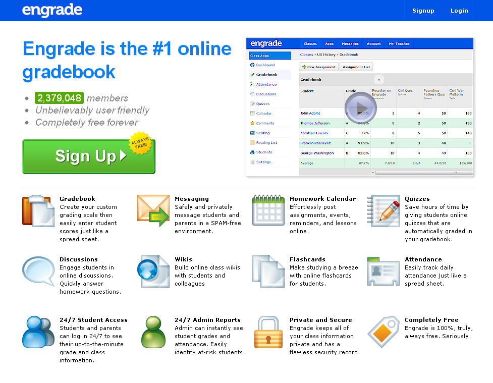 Educating with Technology: Free Online Gradebook