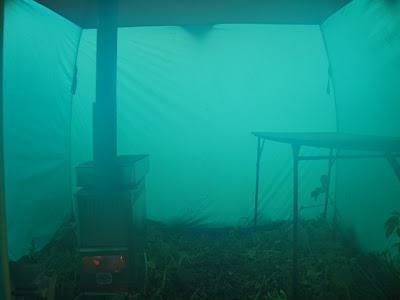 This is how the internal part of the portable Russian sauna tent looked like. & ANGLING WORLD ????: July 2010