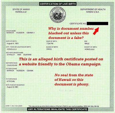 birth certificate obama. Actual Birth Certificate)
