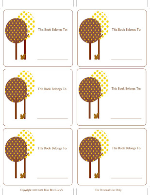 Anyhoo, here is a set of bookplates I have created for the upcoming fall ...