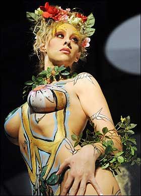 body painting flower 3 Vintage Gay Sex