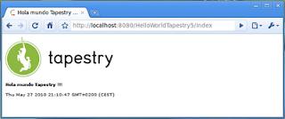 Aplicación HelloWorldTapestry funcionando