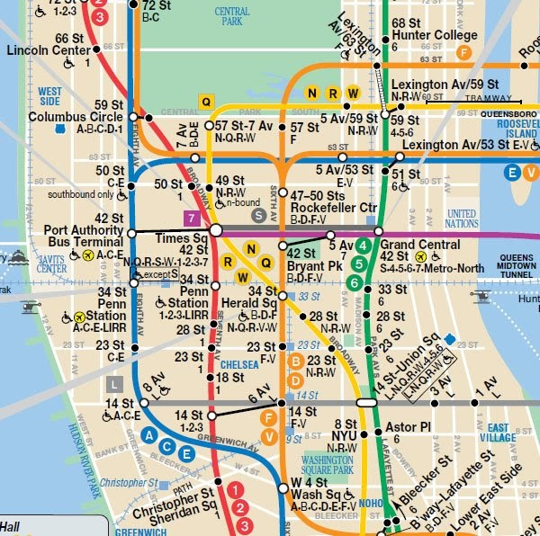 subway map lower manhattan