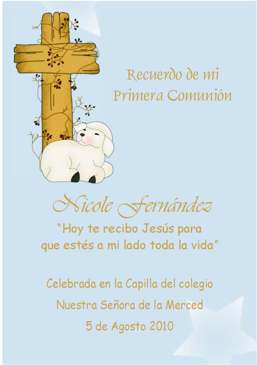 Nuevas tarjetas para recordatorios o invitaciones de Primera Comunión