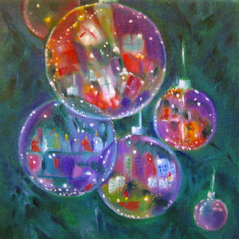 Glass ornaments oil paintings and ornaments on pinterest for How to paint glass with oil paint