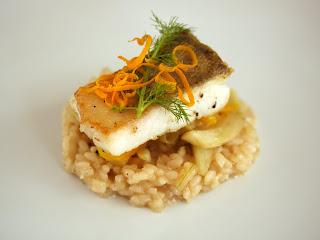 vanília búzasör rizottó risotto sült hal sült fogas kakukkfű édesköménygumó ánizskapor narancs