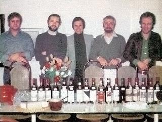 gasztrokvintett Eckart Witzigmann, Wolfram Siebeck, Dieter Biesler, Hans-Peter Wodarz, Otto Koch borkóstoló