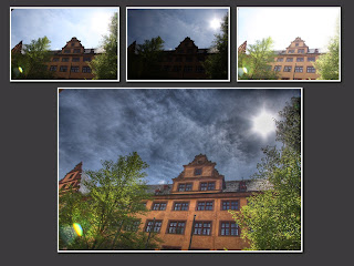 hdr suli würzburg egyetem régi épület nap