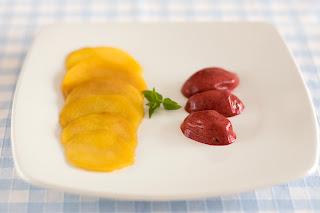 gyömbér thai citromfű szirup nektarin sárga húsú őszibarack szeder sorbet házi fagylalt